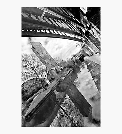 Reflection on old and new Manchester Photographic Print