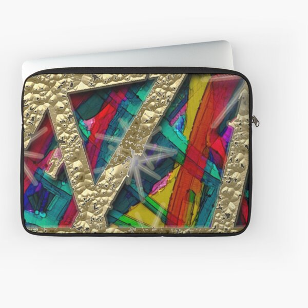 My Mind in Wrapping Paper Laptop Sleeve