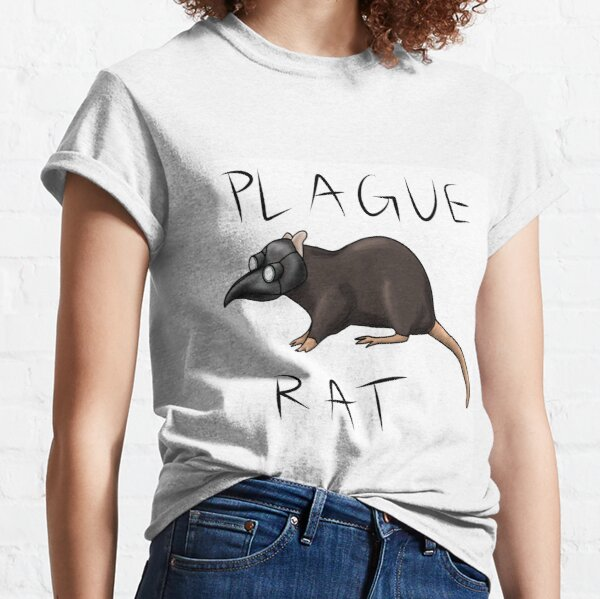 Plague Rat with words Classic T-Shirt