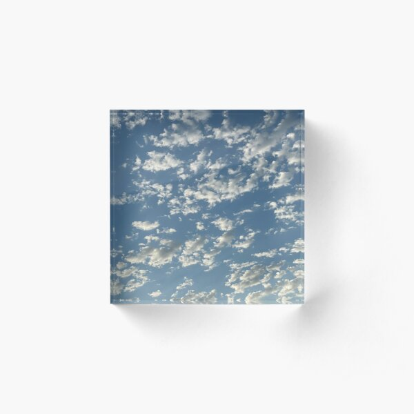 Early Morning Clouds Acrylic Block