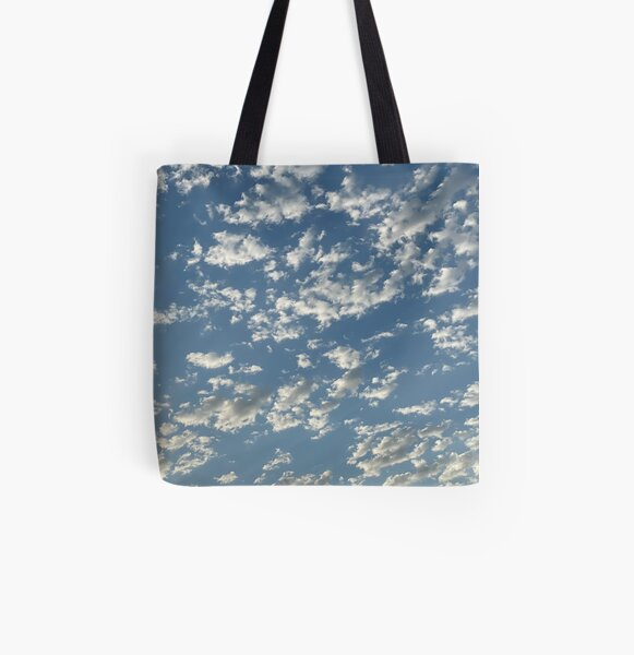 Early Morning Clouds All Over Print Tote Bag