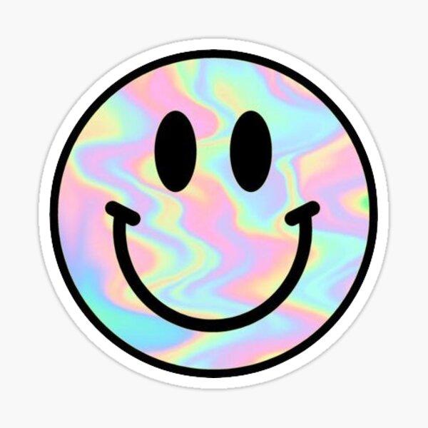 smiley face, holo Sticker