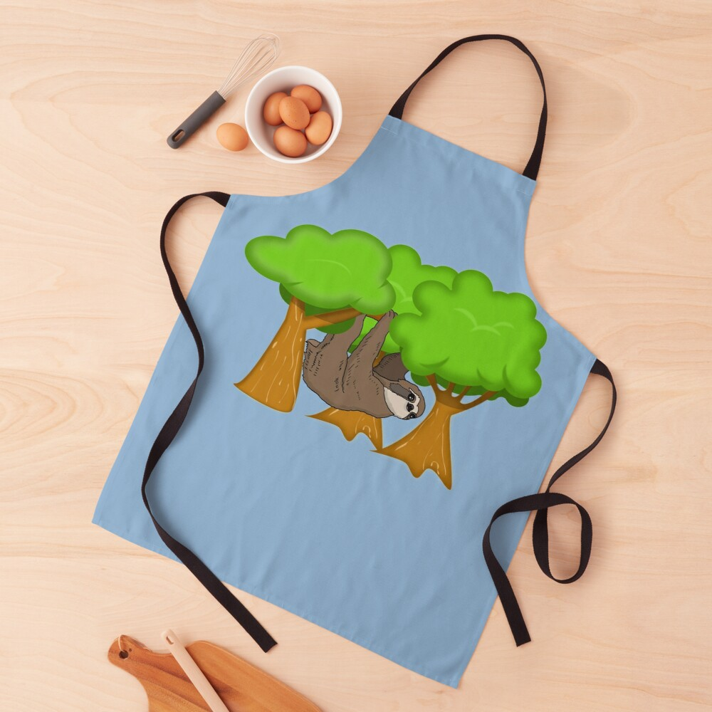 Cute Sloth Hanging From A Tree, Sloth Gift Apron