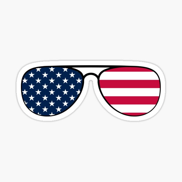 Biden Patriot Aviator Glasses Sticker