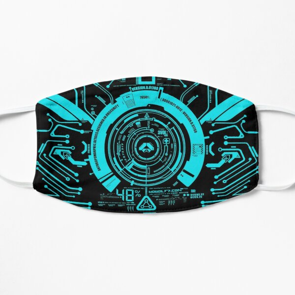 Hi tech tron center aqua Mask