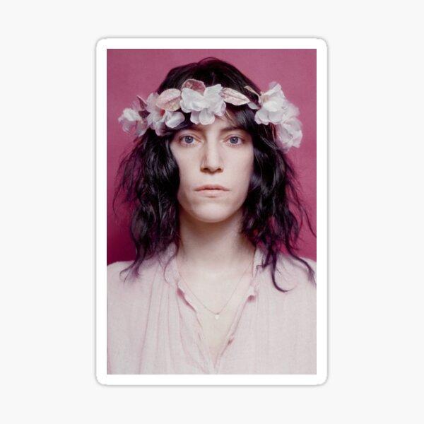 Patti Smith 70s Punk Flower Crown Sticker