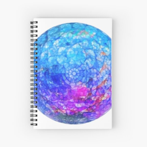 Stained Glass Moon Spiral Notebook