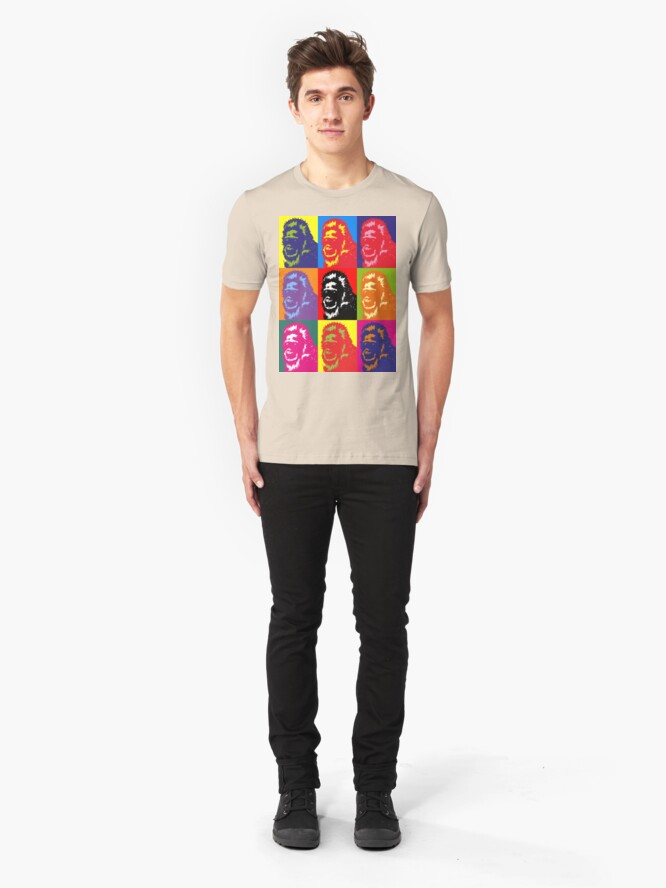 Alternate view of Bigfoot Portrait Slim Fit T-Shirt