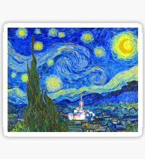 Starry Starry Night with Temple 16x20 Sticker