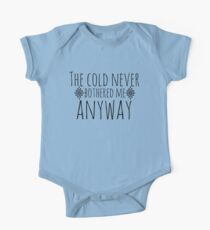 The Cold Never Bothered Me, Anyway Baby Body Kurzarm