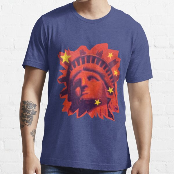 Red Liberty (cut out) Essential T-Shirt