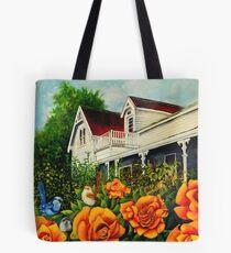 The rose gardens. Franklin Tasmania Tote Bag
