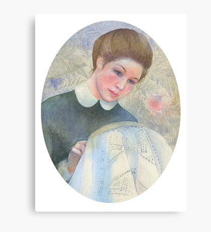 White tablecloth Canvas Print