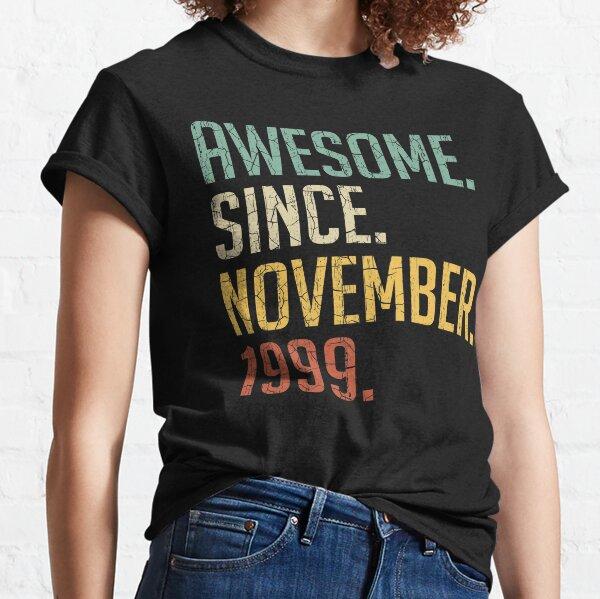 Funny 21st Birthday Shirt 1999 Shirt 1999 Quarantine Edition T-Shirt 21st Birthday Gift For Her November 1999 Vintage Birthday Shirt