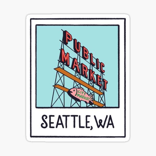 Seattle Polaroid Sticker
