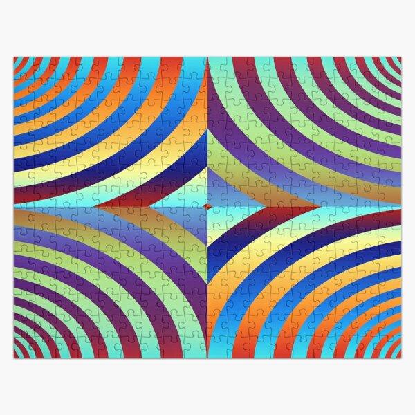 Motley Colored Abstract Pattern, ILLusion, Motif, Visual Art, Wallpaper, Pattern Jigsaw Puzzle