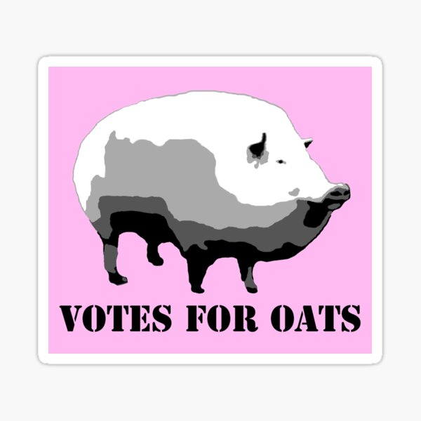Votes for Oats Sticker
