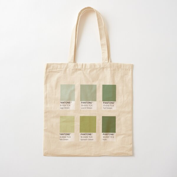 Green Pantone Color Swatch Pack Cotton Tote Bag