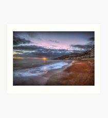 Ventnor Beach sunset Art Print
