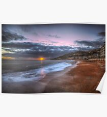 Ventnor Beach sunset Poster