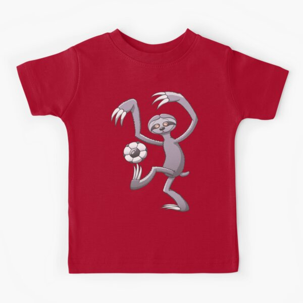 Cool Sloth Playing with a Soccer Ball Kids T-Shirt
