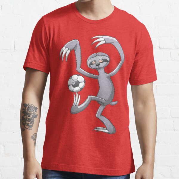Cool Sloth Playing with a Soccer Ball Essential T-Shirt