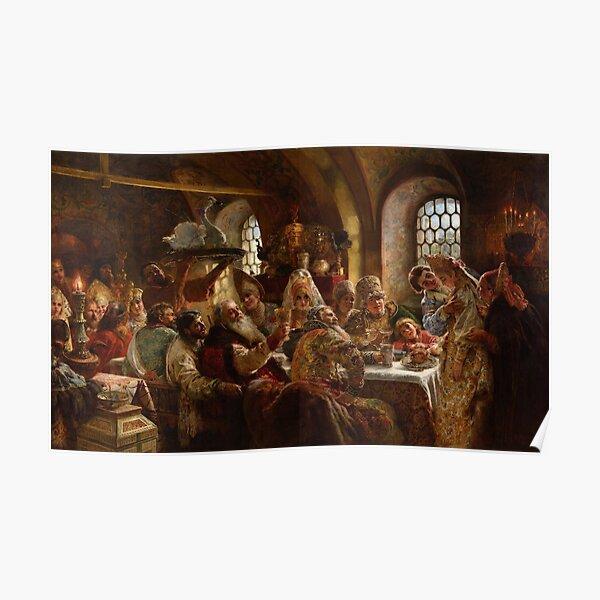 The Boyars' Wedding - Konstantin Makovsky - 1883 Poster