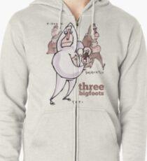 Bigfoots top Zipped Hoodie