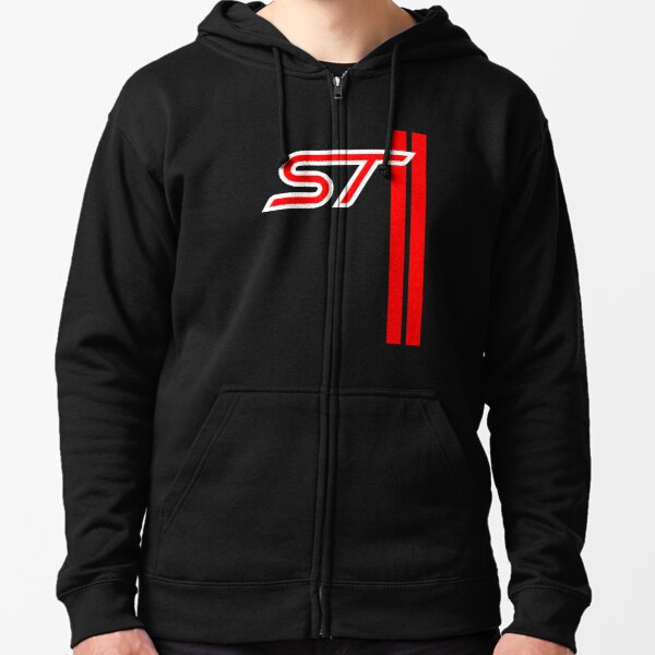 FORD ST Racing Stripes  Zipped Hoodie