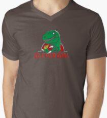 clever girl, jurassic Men's V-Neck T-Shirt