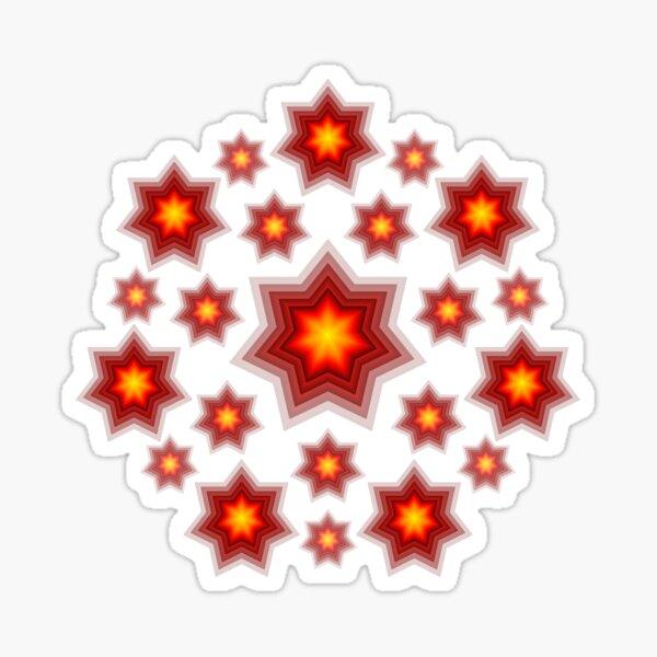 Red shining stars Sticker