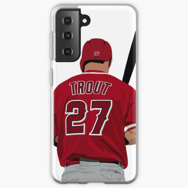 Mike Trout 27 Samsung Galaxy Soft Case