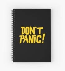 The Hitchhikers Guide to the Galaxy - Don't Panic Spiral Notebook