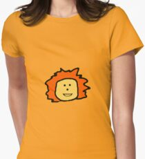Orange Haired Little Girl Womens Fitted T-Shirt