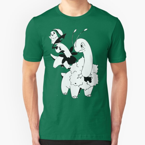 Chikorita Evolution Line Slim Fit T-Shirt
