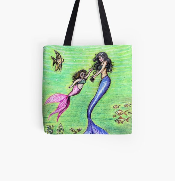 Mermommy All Over Print Tote Bag