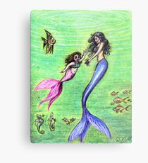 Mermommy Metal Print