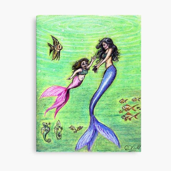 Mermommy Canvas Print