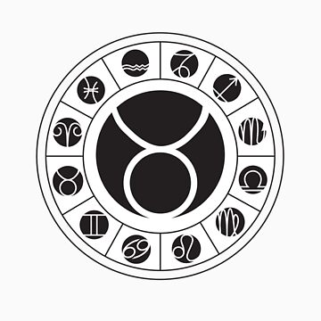 Taurus Zodiac Wheel with I Ching Hexagrams by DesigningChris