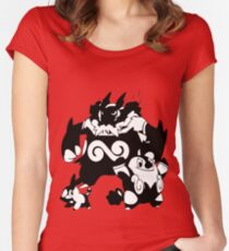 Tepig Evolution Line Women's Fitted Scoop T-Shirt