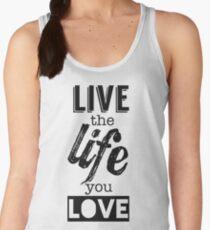 Live Life Love Women's Tank Top