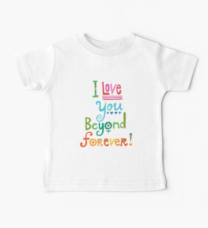 I Love You Beyond Forever -black Kids Clothes