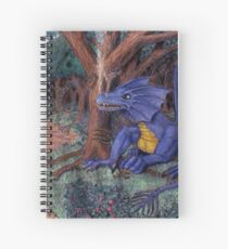 Lying In Wait - Dragon and Maiden Spiral Notebook