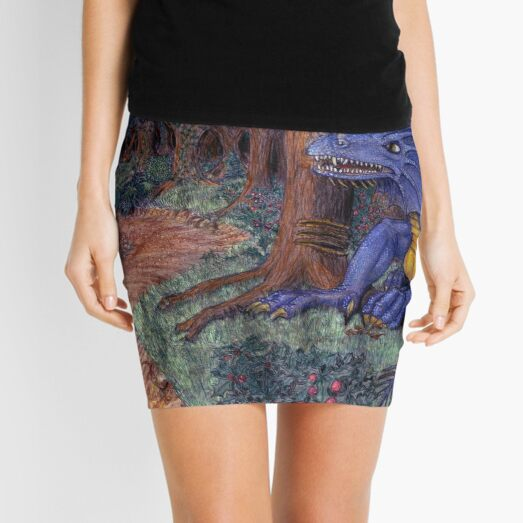 Lying In Wait - Dragon and Maiden Mini Skirt