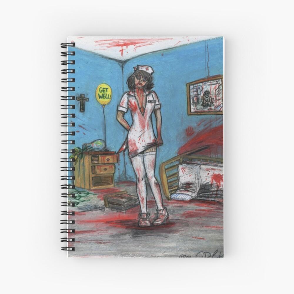 Get Well Soon - Zombie Nurse Spiral Notebook