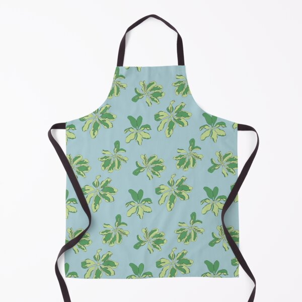 Leaves Pattern Blue Apron