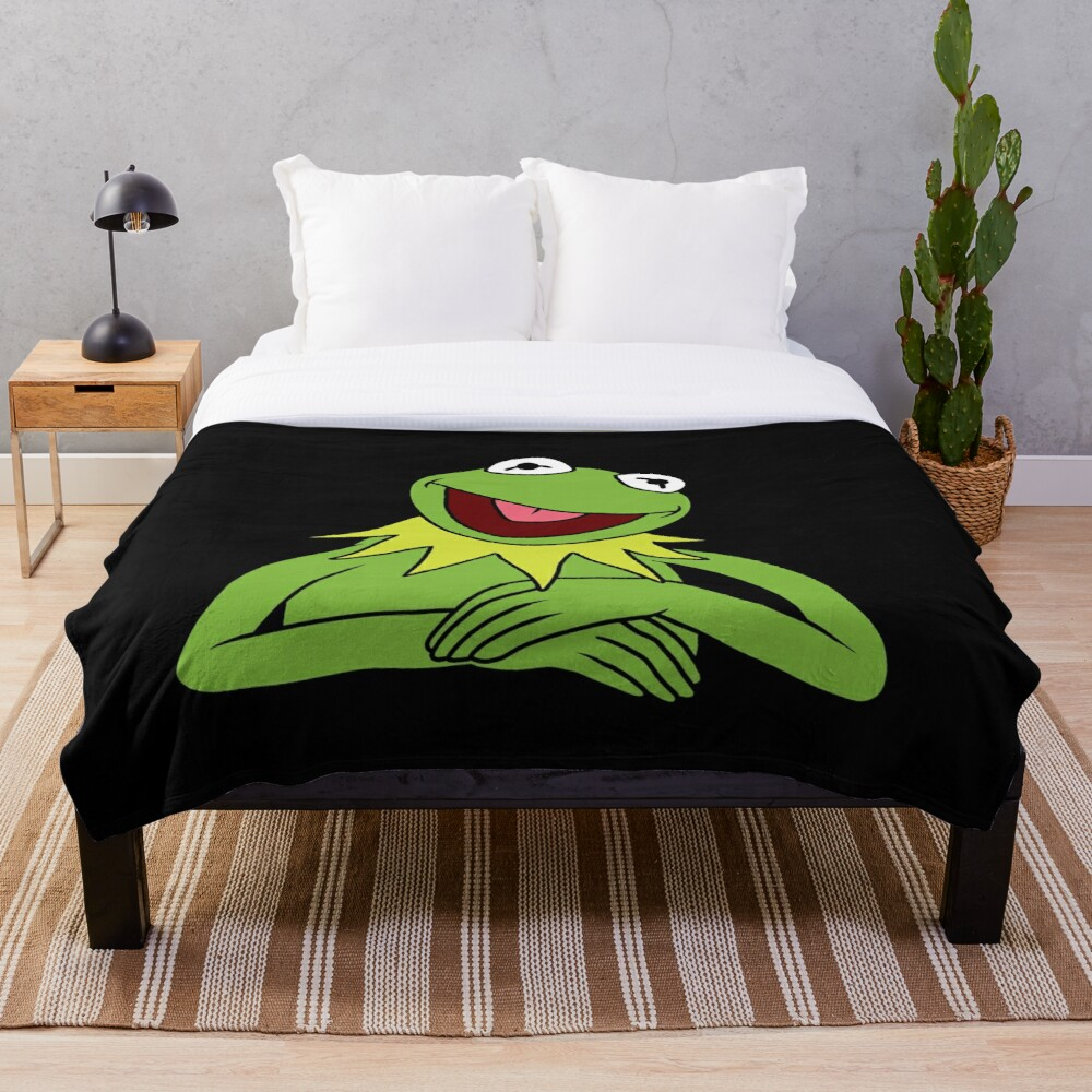 Kermit The Frog Throw Blanket