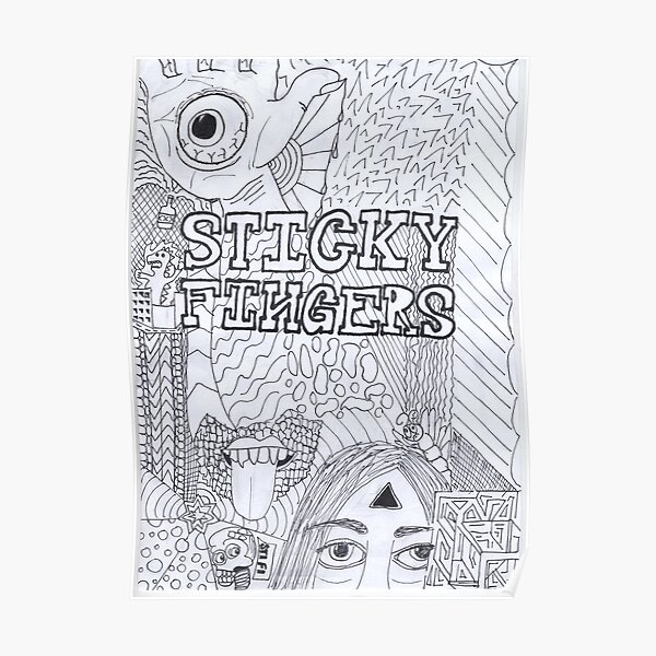 Sticky Fingers Band Poster  Poster