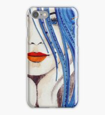 Over the hills (blue) iPhone Case/Skin