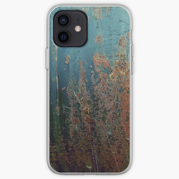 Dirty Rusty Blue and Brown Metal Paint iPhone Soft Case